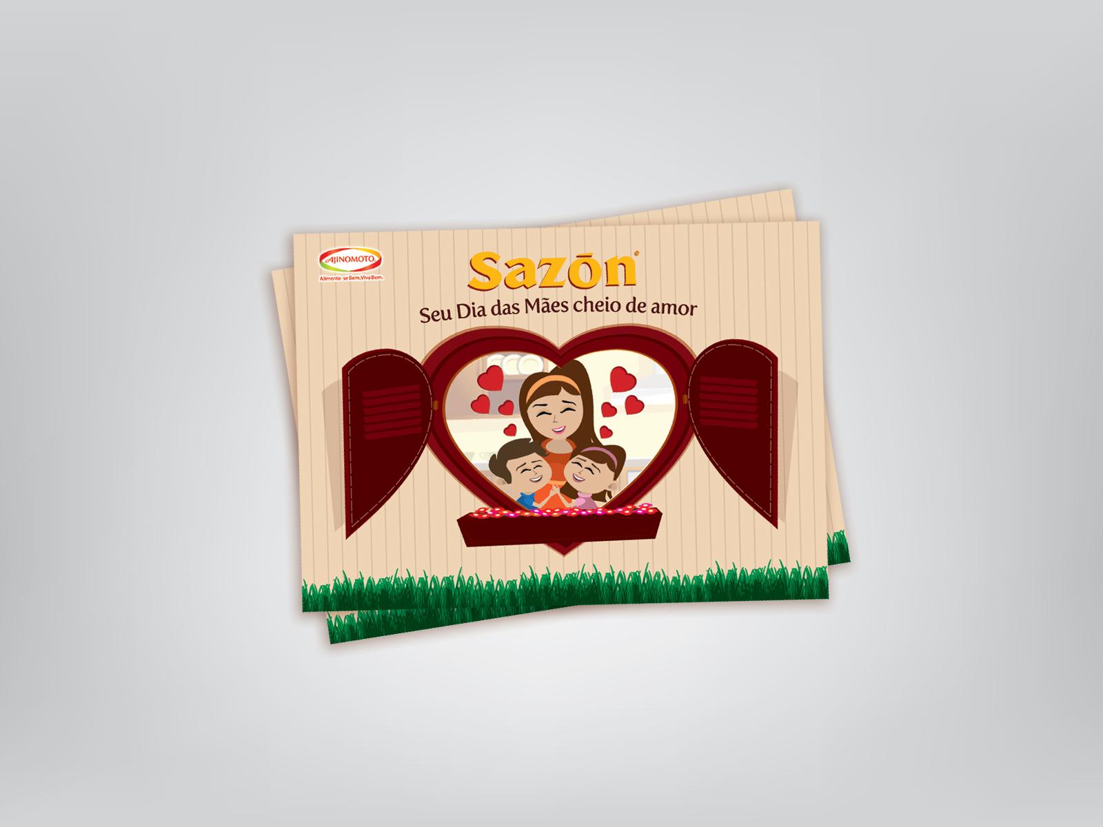 Cliente: Sazón | Job: Cartão dia das Mães Sazón | Categoria: Impressos | Ano: 2009