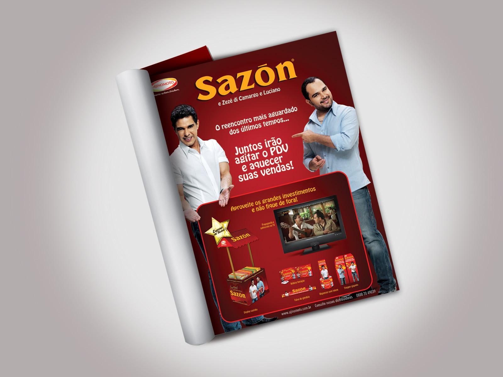 Anúncio Sazón  Revista Super Hiper