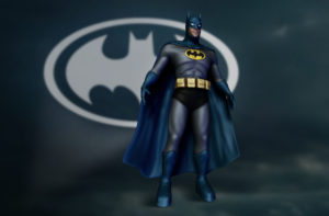 Ilustração 3D – Batman Old
