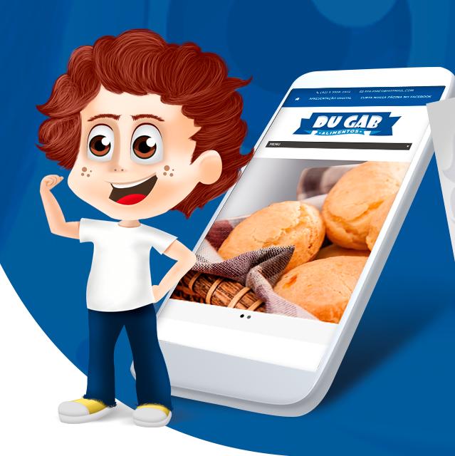 Ilustração Mascote -Du Gab Alimentos